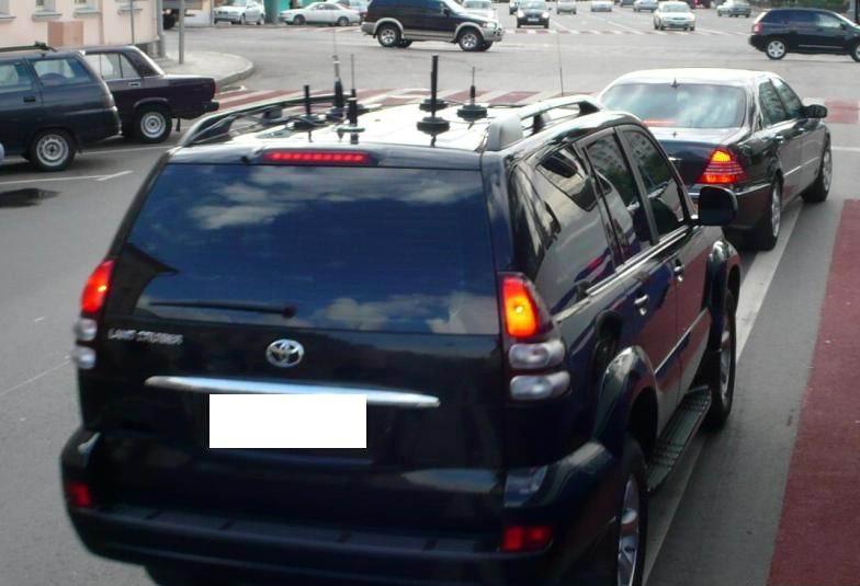 8 - Антенны на автомобилях гибдд