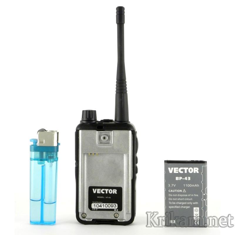 Рации портативные vector vt-43 r2 – цена, фото и видео, отзывы.